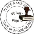 Notary Seal - Wood Stamp - Rhode Island NOTARY_SEAL_RHODE_ISLAND_WOOD_STAMP