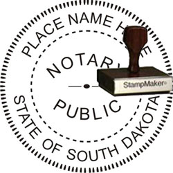 Notary Seal - Wood Stamp - South Dakota