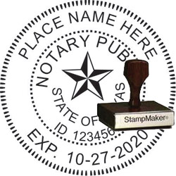 Notary Seal - Wood Stamp - Texas