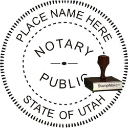 Notary Seal - Wood Stamp - Utah