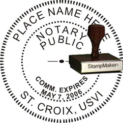 Notary Seal - Wood Stamp - Virgin Islands