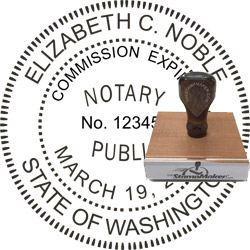 Notary Seal - Wood Stamp - Washington