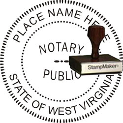 Notary Seal - Wood Stamp - West Virginia