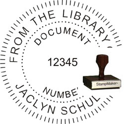 Wood Seal Stamp with Your Text