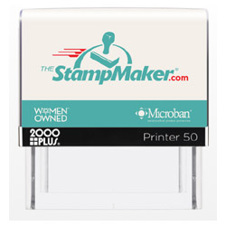 2000 Plus Printer 50 Self Inking Stamp