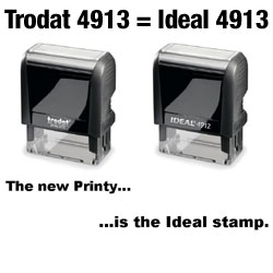 Ideal 100 Self Inking Stamp - REPLACED BY Trodat 4913