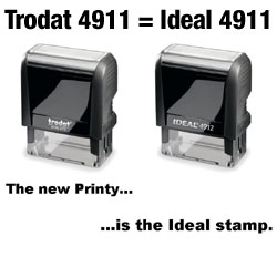 Ideal 50 Self Inking Stamp - REPLACED BY Trodat 4911