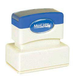 Maxlight XL 125 Pre Inked Rubber Stamp