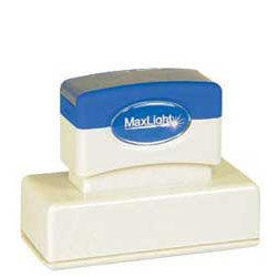 Maxlight XL 185 Pre Inked Rubber Stamp