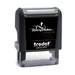trodat printy 4911 self inking rubber stamp thestampmaker com
