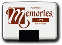 Memories Dye Stamp Pad Black Fabric