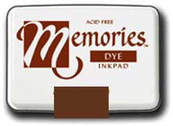 Memories Dye Stamp Pad Artprint Brown