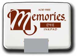 Memories Dye Stamp Pad Soft Silver