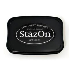 Stazon Fast Drying Black Stamp Pad Thestampmaker Com