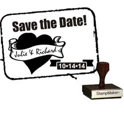Save The Date Stamp Small - 10A