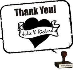 Wedding Stamp - Thank You Small - 10B