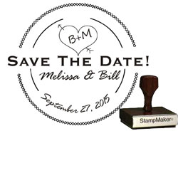 Save The Date Stamp Large - 11A