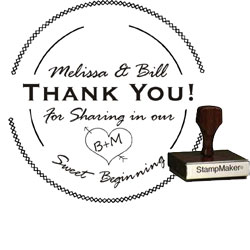 Wedding Stamp - Thank You Small - 11B