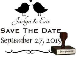 Save The Date Stamp Small - 12A