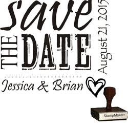 Save The Date Stamp Small - 1A