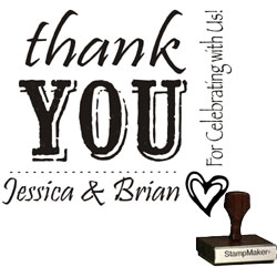 Wedding Stamp - Thank You Large -1B