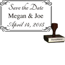 Save The Date Stamp Large - 2A