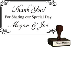 Wedding Stamp - Thank You Large -2B