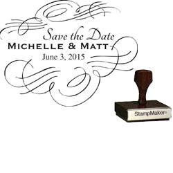 Save The Date Stamp Large - 3A
