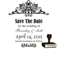 Save The Date Stamp Large - 4A
