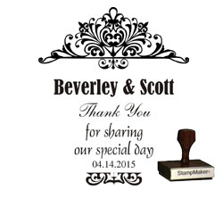 Wedding Stamp - Thank You Large - 4B