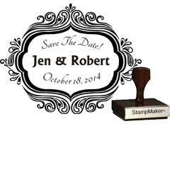 Save The Date Stamp Large - 5A