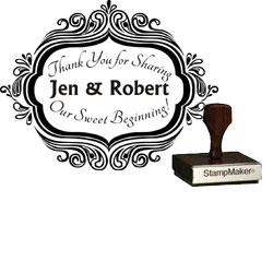 Wedding Stamp - Thank You Large - 5B