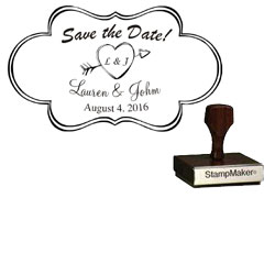 Save The Date Stamp Small - 6A