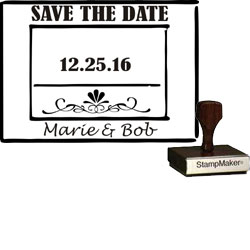 Save The Date Stamp Large - 8A
