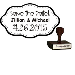 Save The Date Stamp Small - 9A