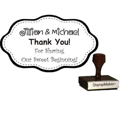 Wedding Stamp - Thank You Large - 9B