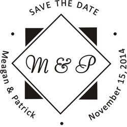 Monogram Wedding Stamp WSM-13