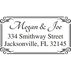 Monogram Wedding Stamp WSM-2