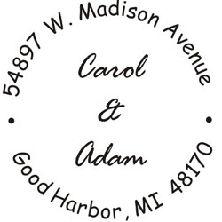 Monogram Wedding Stamp WSM-7