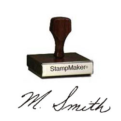 Wood Signature Stamp - up to 3""