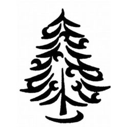 C12 Christmas Tree Stamp